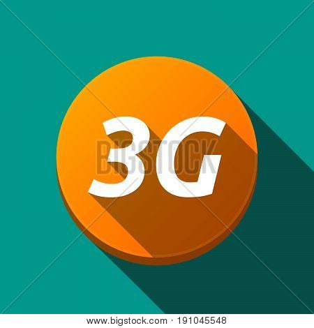 Long Shadow Round Buttonwith    The Text 3G