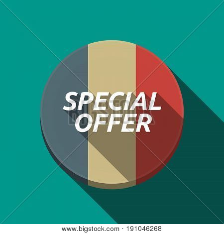 Long Shadow  Round Button With    The Text Special Offer