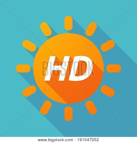 Long Shadow Sun With    The Text Hd