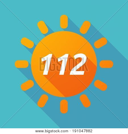 Long Shadow Sun With    The Text 112