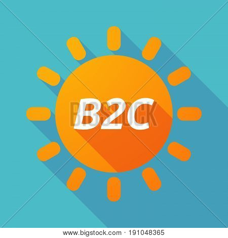 Long Shadow Sun With    The Text B2C