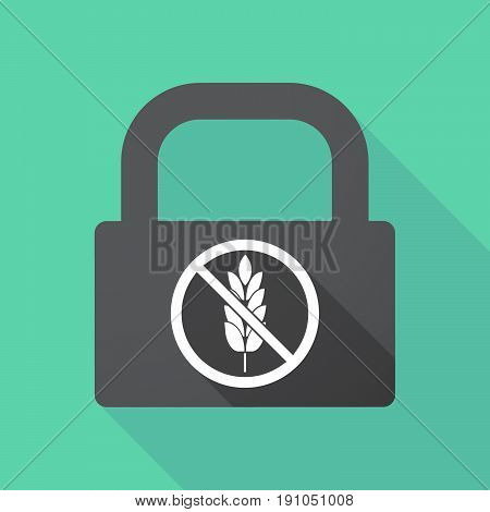 Long Shadow Lock With  A Gluten Free Sign