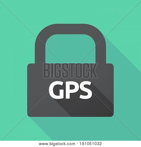 Long Shadow Lock With  The Global Positioning System Acronym Gps