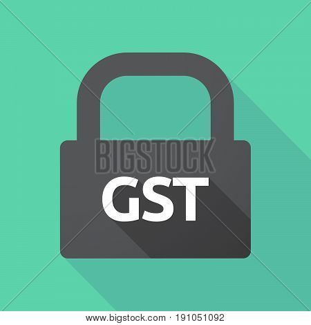 Long Shadow Lock With  The Goods And Service Tax Acronym Gst