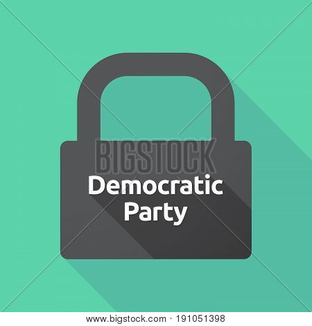 Long Shadow Lock With  The Text Democratic  Party
