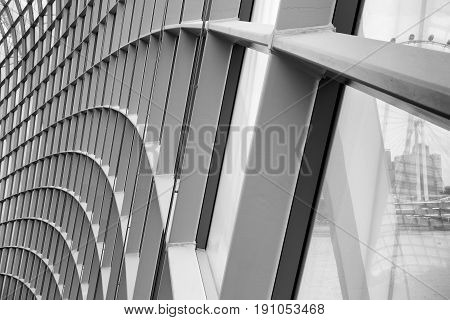 Structure facade and engineering desing. Abstract background.