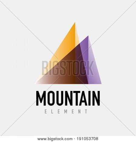 Mountain logo geometric design, simple modern logotype