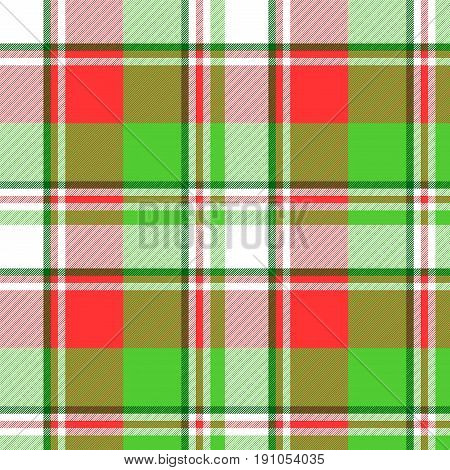 Abstract madras seamless pattern fabric texture. Vector illustration.