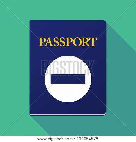 Long Shadow Passport With  A No Trespassing Signal