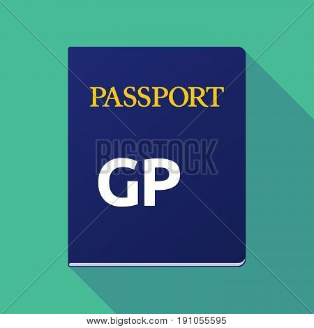 Long Shadow Passport With  A Cursing Text