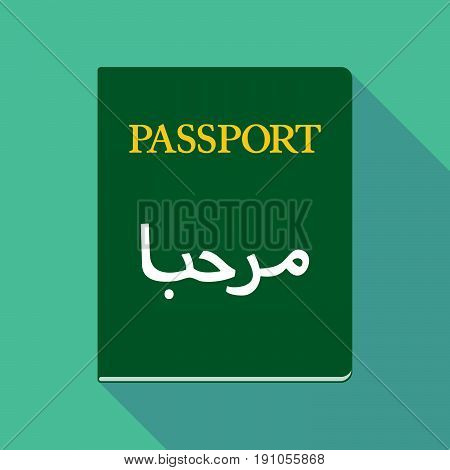 Long Shadow Passport With  The Text Hello In The Arab Language
