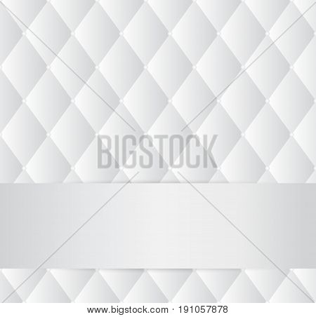vector abstract white grey upholstery background with copy space