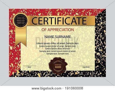 Template certificate of appreciation. Elegant background. Vector illustration.