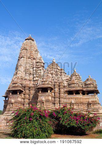 Famous Kandariya Mahadeva Temple In Khajuraho, India