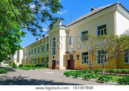 VITEBSK BELARUS - MAY 25 2017: Therapeutic building (clinic of Department of Therapy) of Vitebsk Order