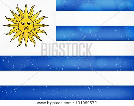 illustration of Uruguay Flag background on the occasion of Uruguay Independence