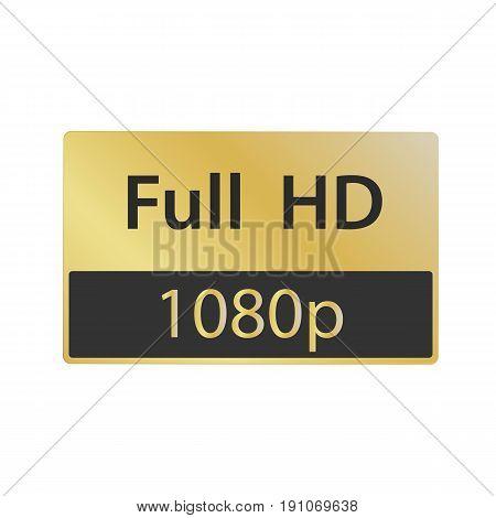 Full HD vector icon illustration. 1080 p vector