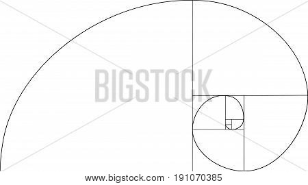 Golden ratio vector. Mathematic symbol vetor illustration