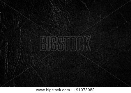 Black leather texture background, Concept leather texture.