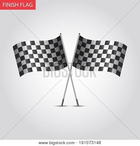 Start and finish flags. Checkered. Chequered Flags Finish Flag. Racing flag vector illustration.