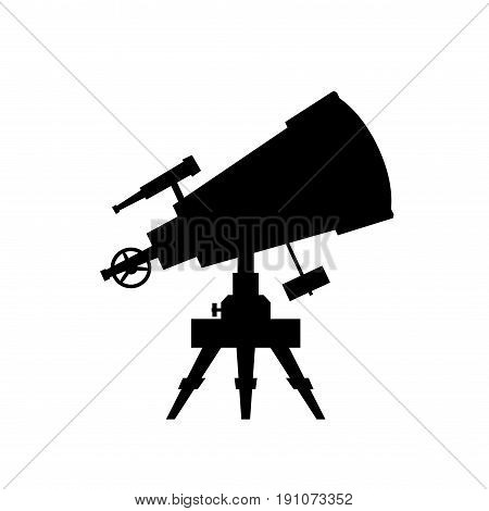 Telescope. Vector silhouette on white background. Eps8. RGB Global color