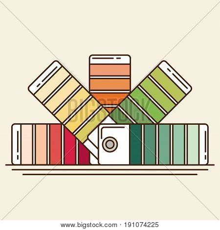 Color Swatches Book. Vector & Photo (Free Trial) | Bigstock
