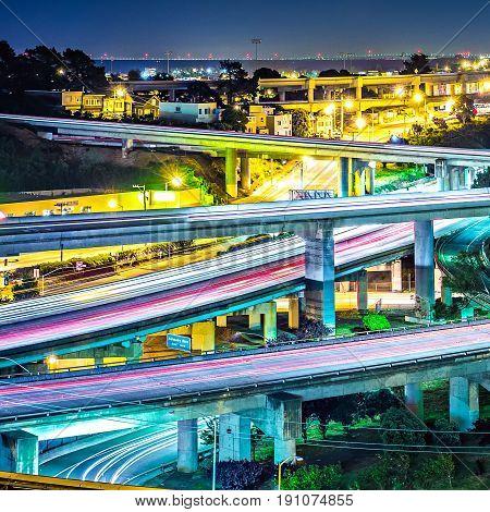 San Francisco California 101 And 280 Highway Interchange