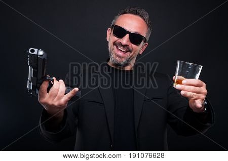 Cheerful Mafia Member Partying