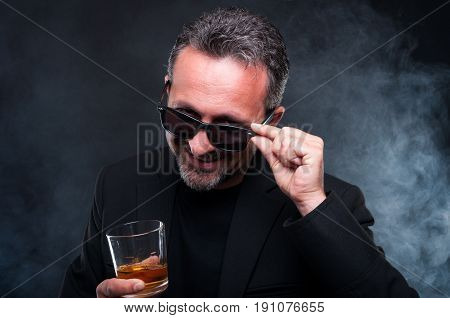 Handsome Exclusive Guy Drinking His Scotch