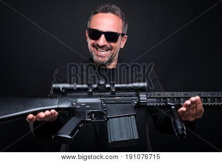Mafia Gangster Selling His Weapon