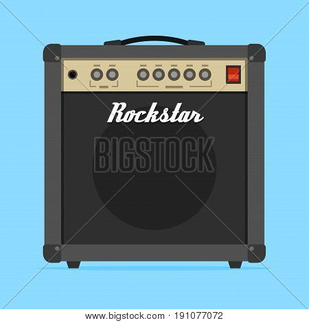 The guitar amp amplifier flat vector illustration.