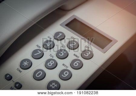 Numbers on phones, landlines, vintage, phones home.