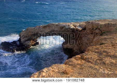 Natural bridge Cape Greko. Ayia Napa, Cyprus