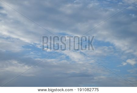 The vast blue sky and clouds sky, blue sky and cloud nature.