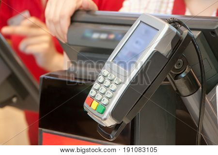 The Terminal For Payment By Cash Cards