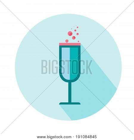 wineglass for woman vector icon. Beauty and accessoires