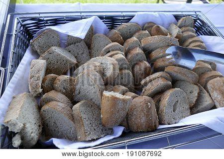 Slices Of Bread Prepared As A Sidedish