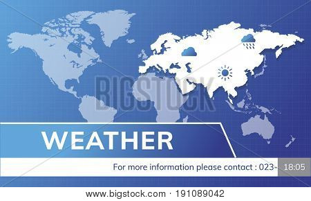 Weather Forecast Special Report Concept
