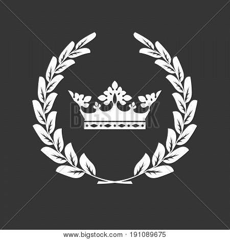Сrown and laurel wreath - family blazon or coat of arms