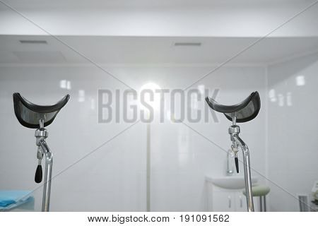 Shot of a gynecological chair in a hospital operating room copyspace medicine medical living vitality health healthcare professionalism concept.