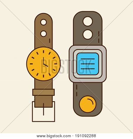 Wristwatch & Smart Watch. Old And New