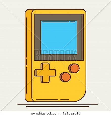 Old Gadget. Flat icon vector for design