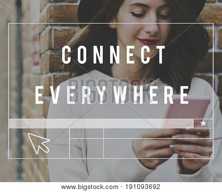 Connect Everywhere Word Web Template Graphic