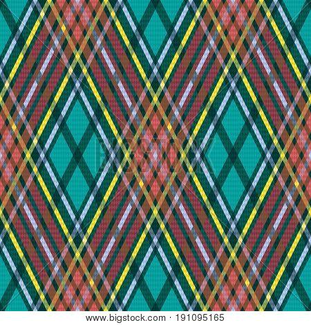 Rhombic Seamless Checkered Pattern
