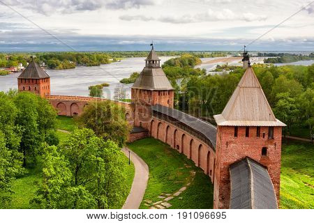 Old Towers Of Novgorod Kremlin, Russia