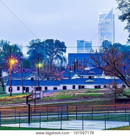 Charlotte North Carolina Urban Scenes And Skyline