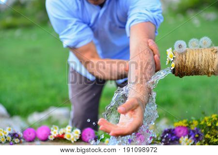 ablution fountain is located at Human-time of ablution-time of ablution