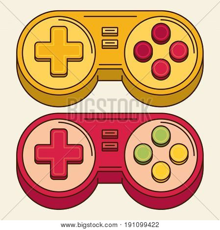 Vintage Game Joystick. flat vector icon for design and web