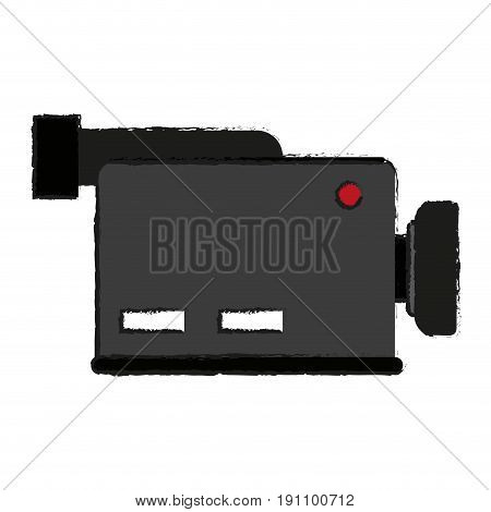 video camera icon image vector illustration design  sketch style