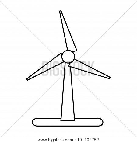wind turbine eco freindly related icon image vector illustration design  black line